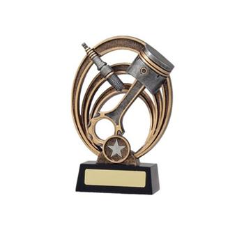 """Large MOTORSPORT Piston Trophy 7/"""" FREE ENGRAVING Personalised Motor Sport Award"""