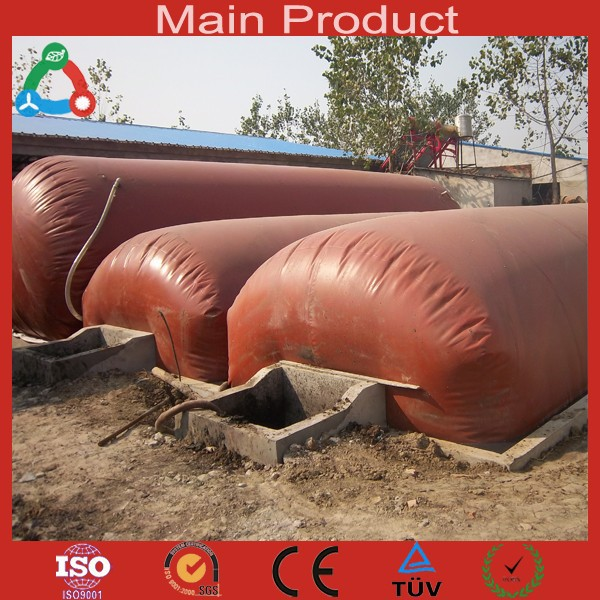 6m3 - 100m3 Portable Biogas Digester 1.0mm 1.2mm PVC Biogas Methane Production