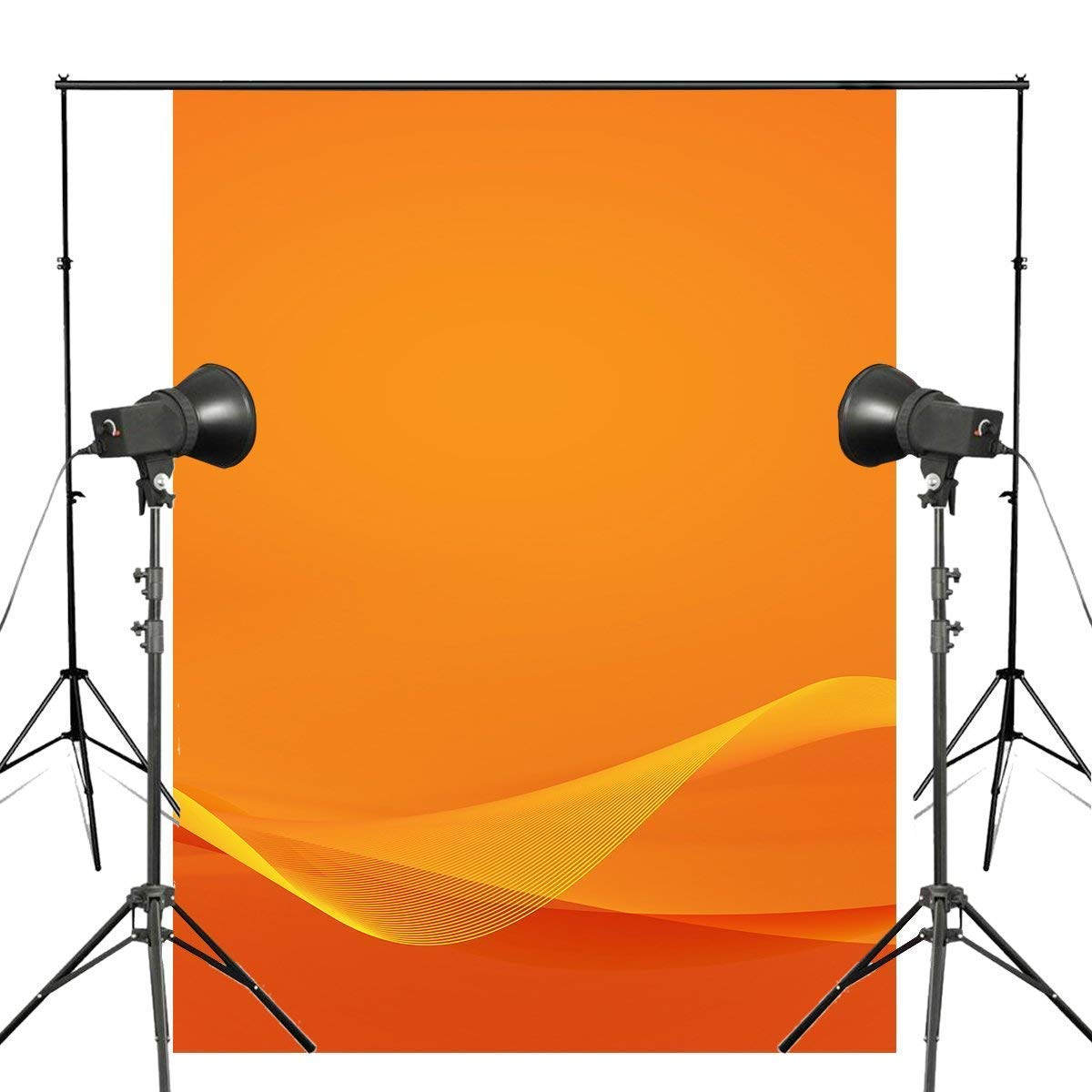 ERTIANANG Abstract 3D Stereoscopic Photography Background Orange Backdrop Art Photo Studio Backdrop Props Wall 5x7ft