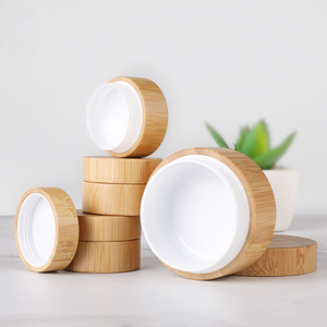 10g empty recycled bamboo cosmetic jars wooden face cream jar