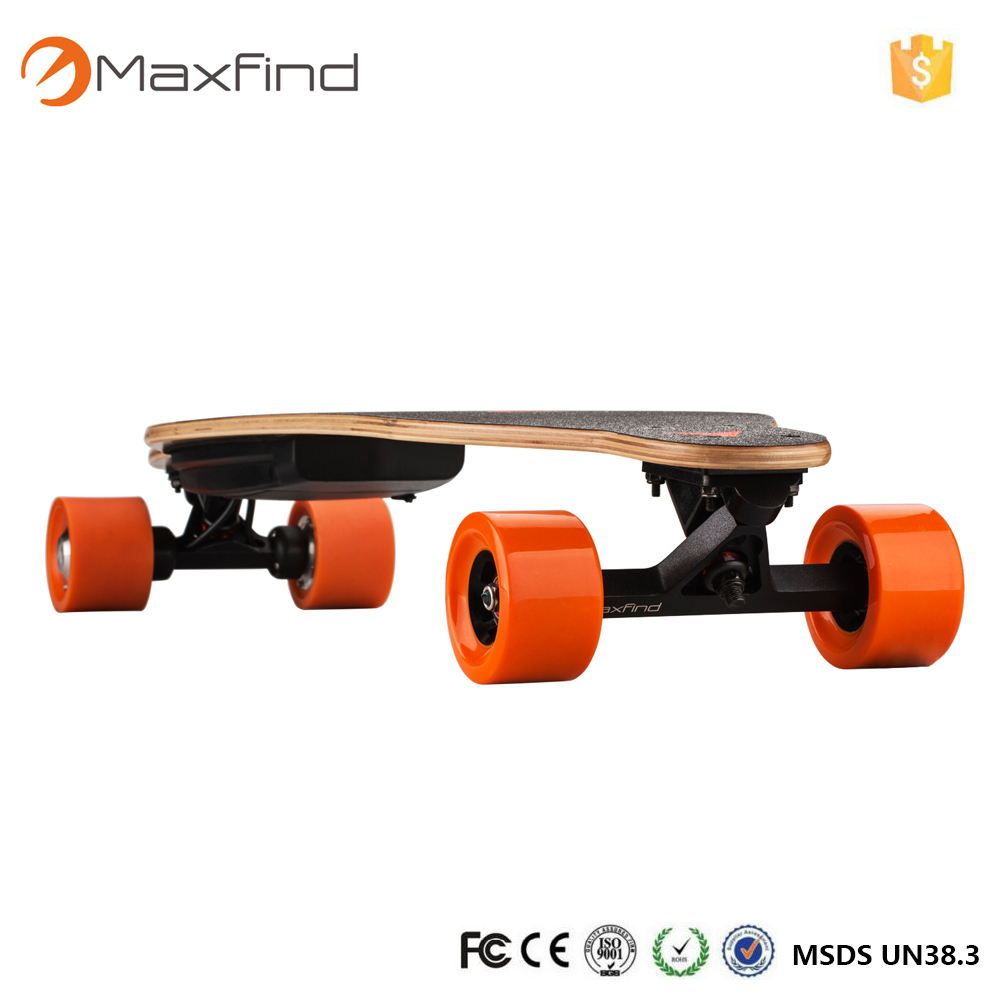 Maxfind electric skateboard diy 83mm brushless hub motor and pu wheels and trucks and battery skate board Double Motor Drive DIY