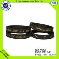 Custom cheap christian silicone bracelets wholesale