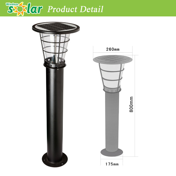 Lovely Without Any External Power Waste And Modern Design Led Solar Powered Lamp,  Garden Outdoor Solar