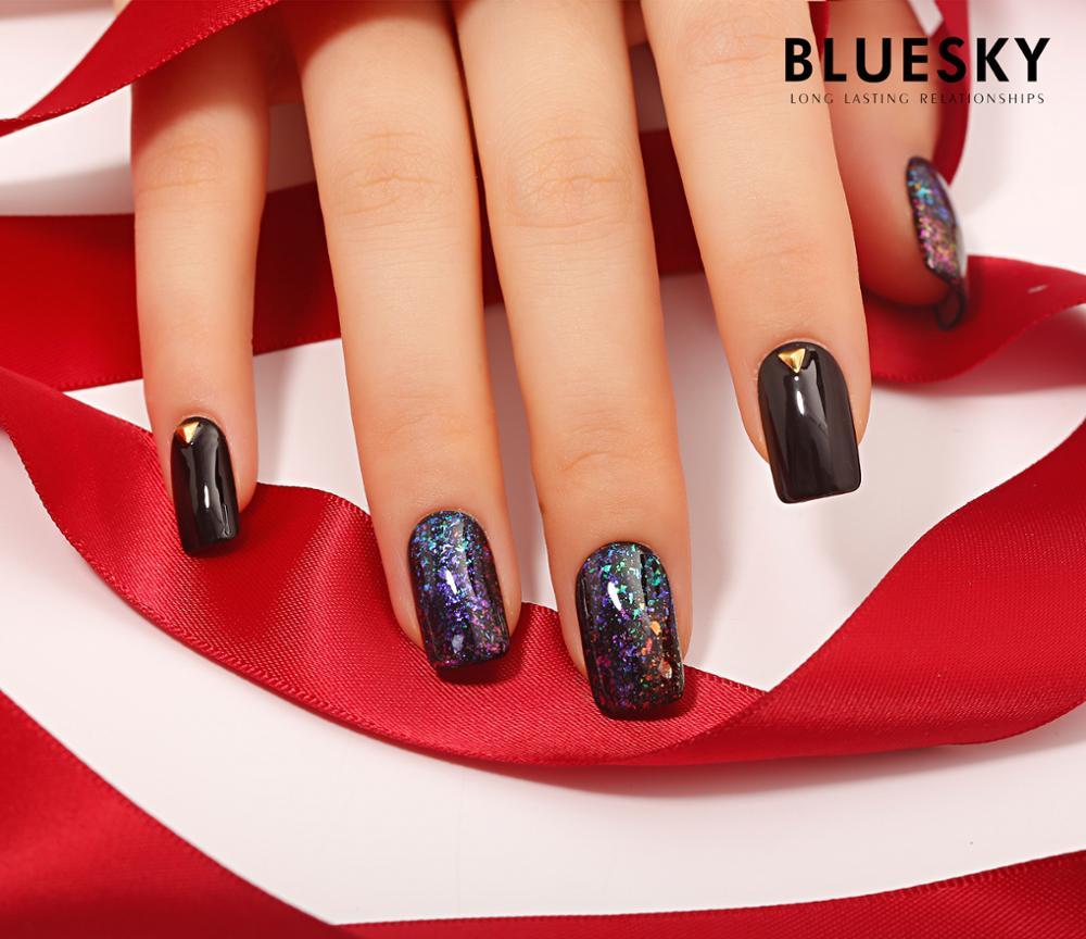 Bluesky New Arrival Galaxy Esmalte Glitter Uv Luminous Gel Nail Art ...