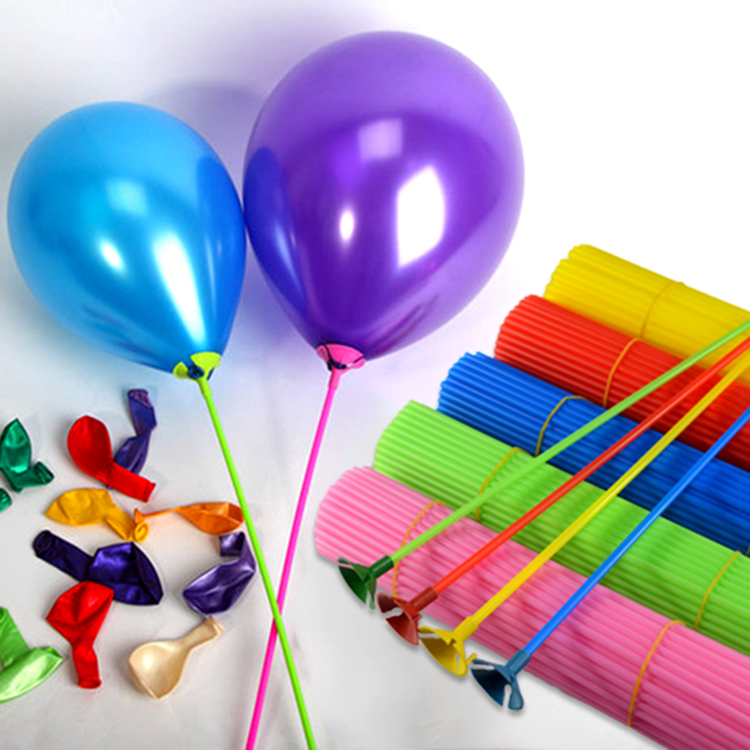 Party Balloons With Sticks and Cups