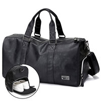 Smart Large Capacity Travel Bag Leather Waterproof Shoes Compartment Duffel Bag for Out Door