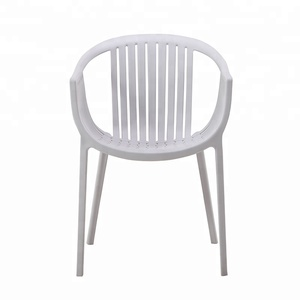 tatami style outdoor usage stackable full polypropylene plastic garden chair