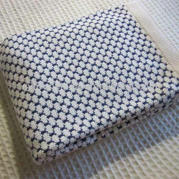 50cz74 100%elegant Pattern Knit Blanket,Chunky Ladder Blanket ...