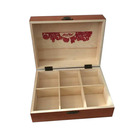 high quality vintage chest wooden tea gift box with dividers
