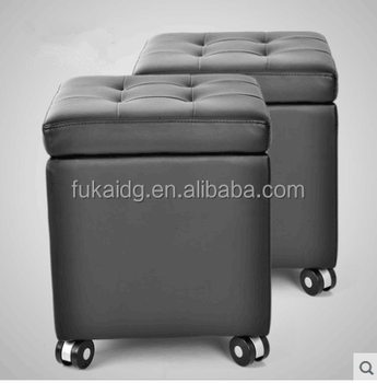 Admirable Cube Foot Stool Upholstered Footrest Storage Leather Ottoman With Wheels For Home Furniture Buy Ottoman With Steels Leather Square Storage Andrewgaddart Wooden Chair Designs For Living Room Andrewgaddartcom