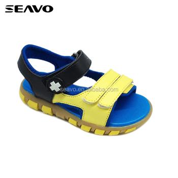 Seavo Boys Pu Upper Tpr Sole Yellow