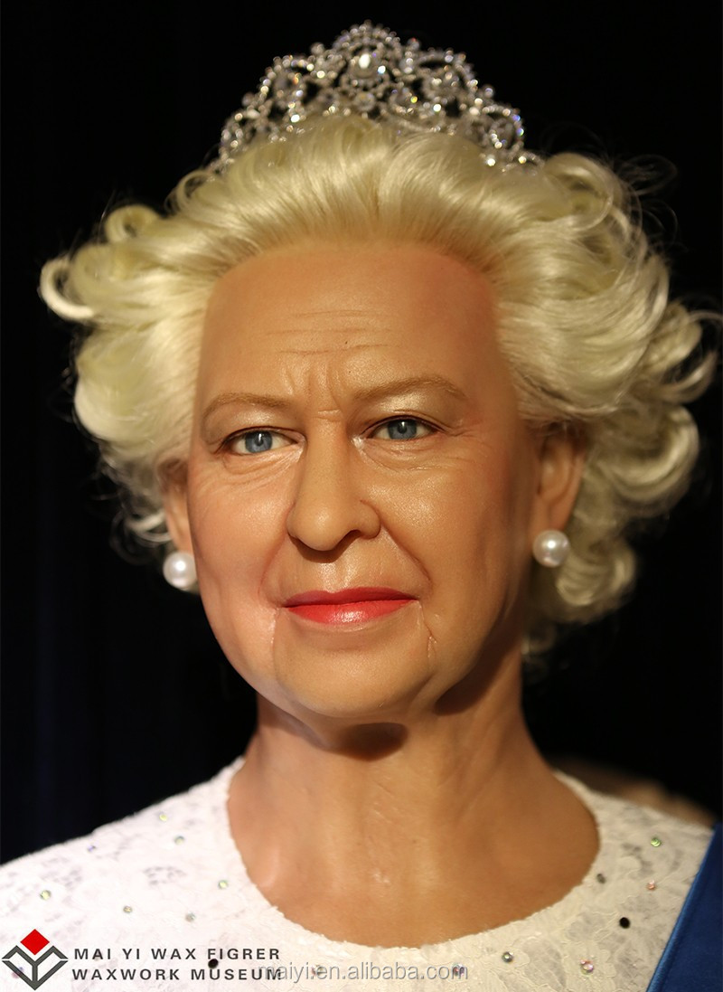 Celebrity Queen Elizabeth of England Life Size Wax Statues for Sale