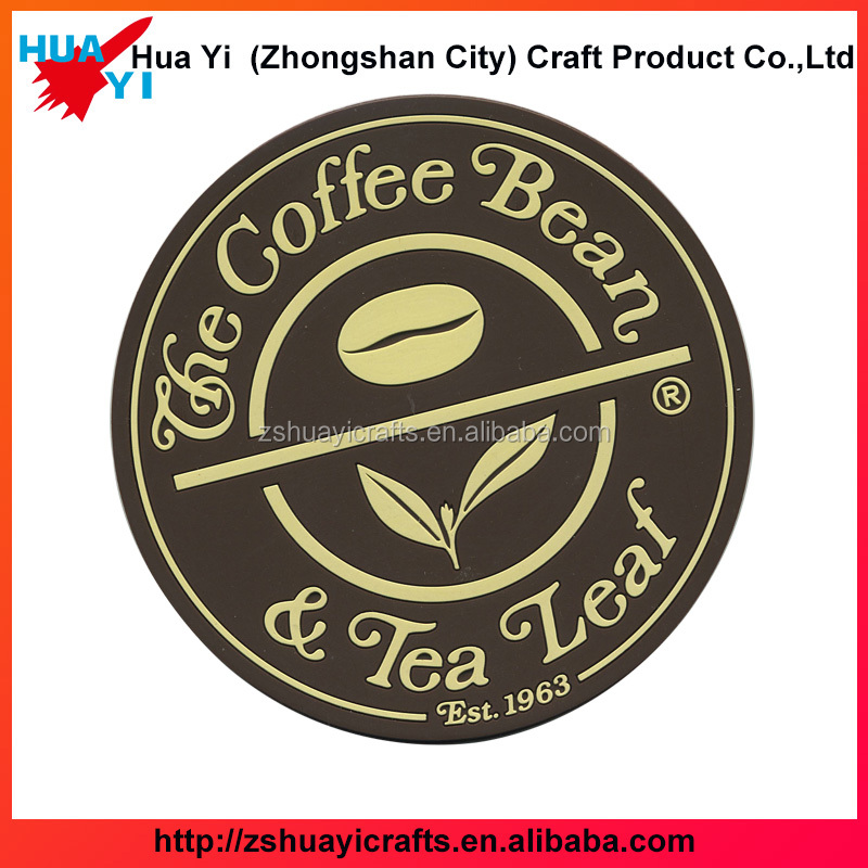 Round Custom Soft Rubber Soft PVC Coaster Cheap Rubber Beer Coaster With Logo