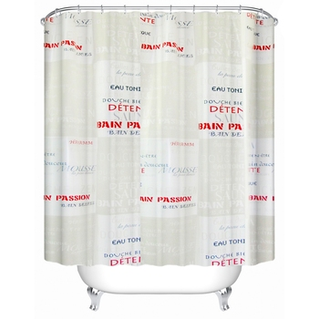 Transparent Shower Curtain With Magnets And Track Hooks