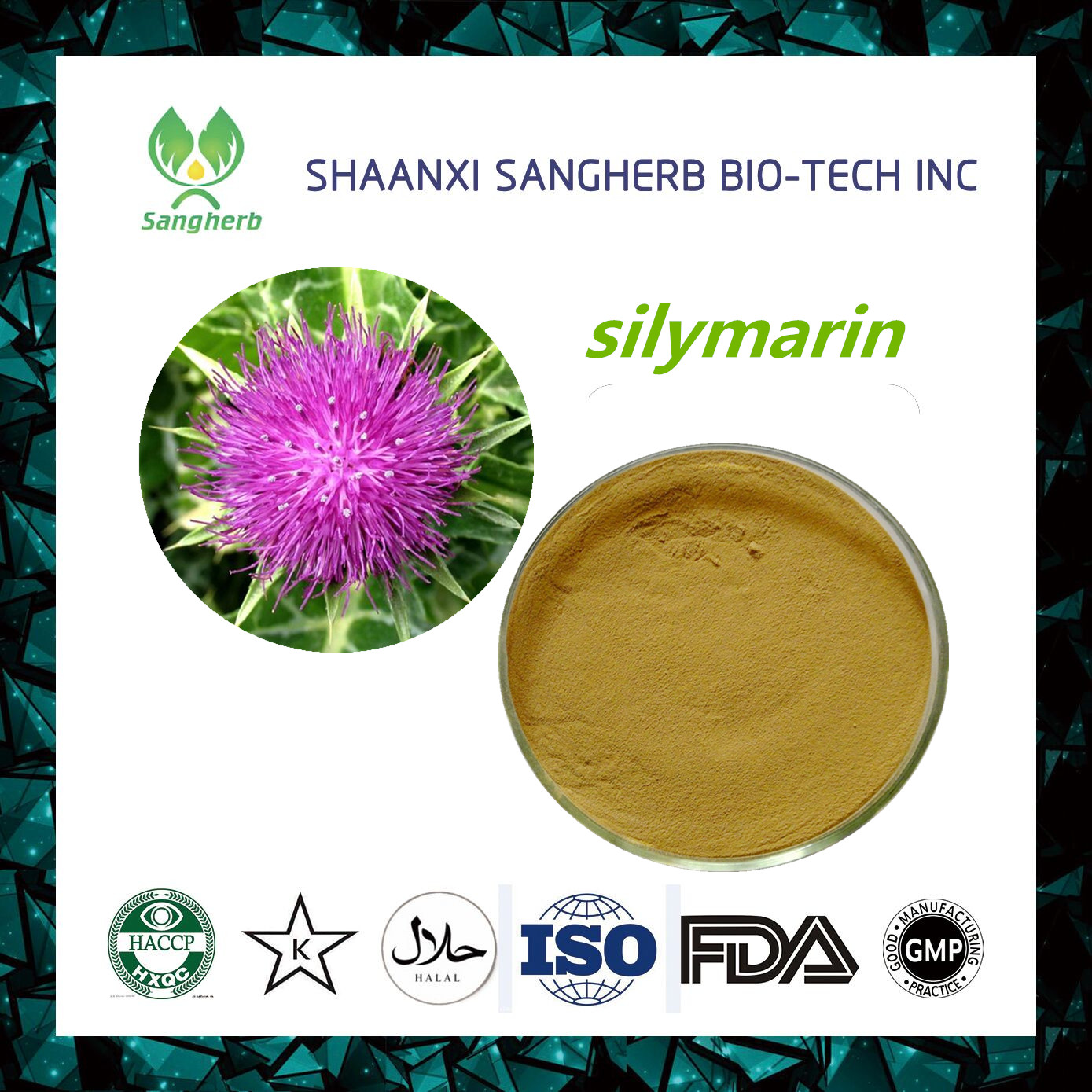 Top Quality natural plant extract silymarin With Good After-sale Service