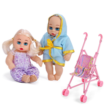 Commercio all'ingrosso TC0802A/TC0802B Del Vinile Reborn 8-pollici baby doll con trolley