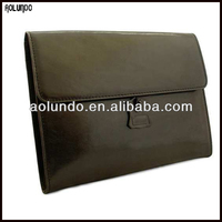 Classical Vegetable tanned leather clear holder file a4