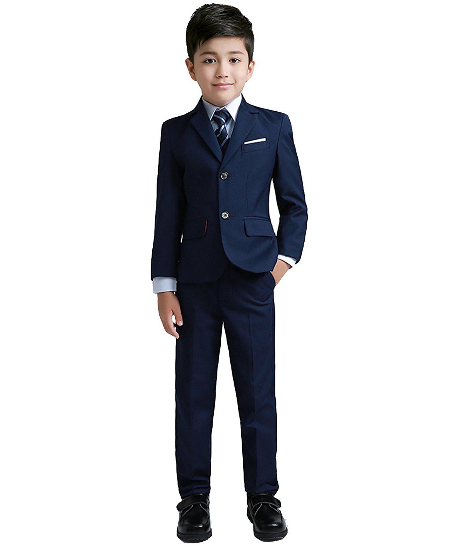 0160abd43 Yuanlu Boys Colorful Formal Suits 5 Piece Slim Fit Dresswear Suit Set