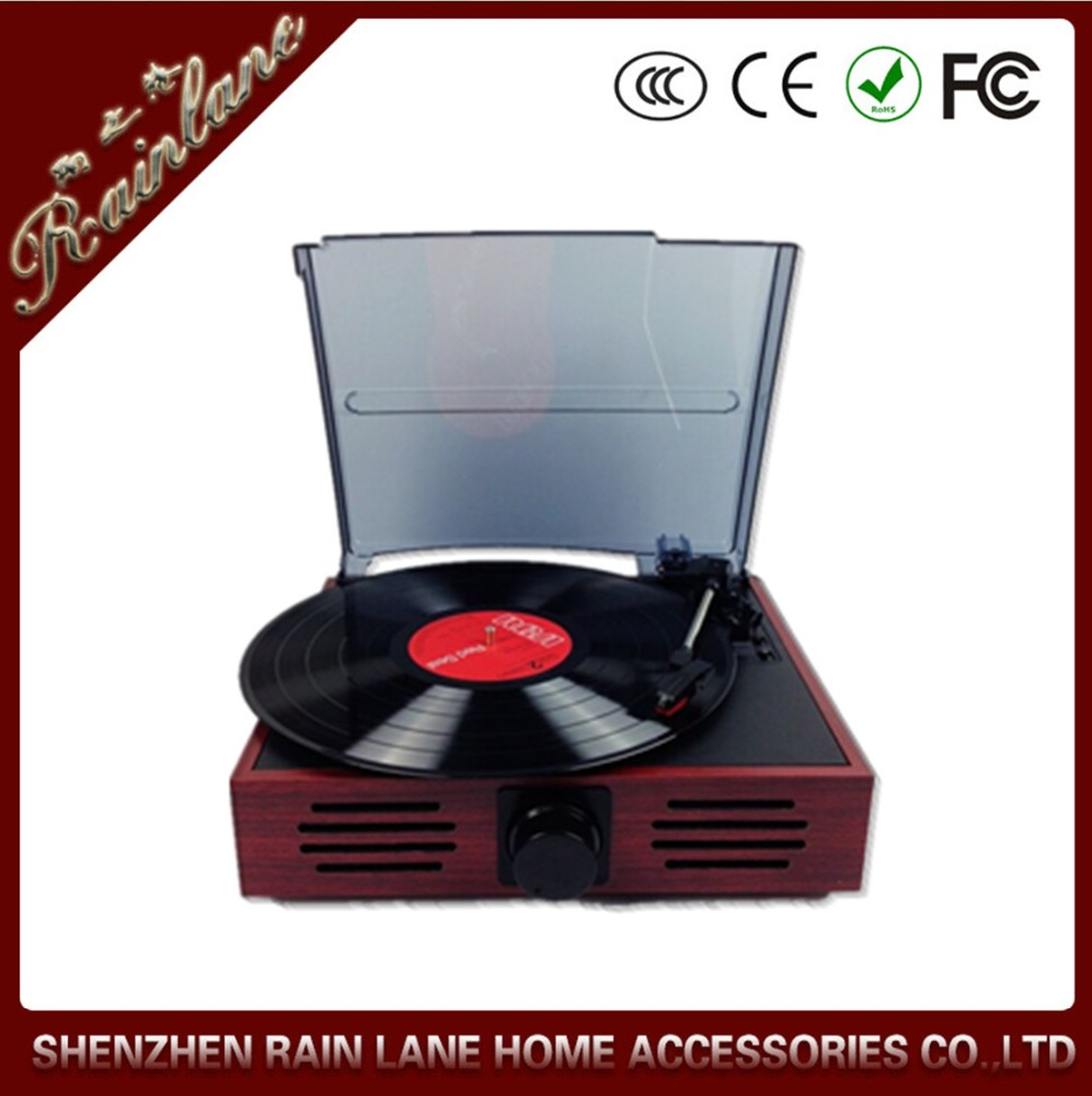 Rain Lane 3 Speed Turntable Automatically Stop System RCA Line Input Output Digital Phonograph