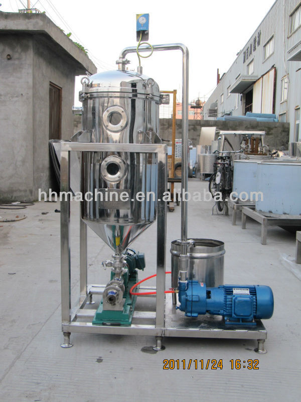 The Stainless Steel vacuum degasifier Vacuum tank off for milk products