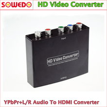 RCA Component RGB YPbPr to HDMI v1.3 HDCP Video Audio Converter Adapter for HDTV, DVD, PSP, Xbox 360