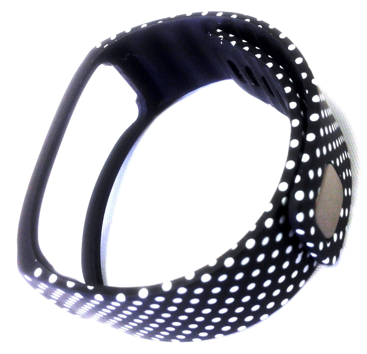 1pc Replacement Black with White Dots Spots Band & Metal Clasp For Samsung Galaxy Gear Fit Bracelet Smart Wristband Wireless Activity Bracelet Sport Bracelet Sport Arm Band Armband