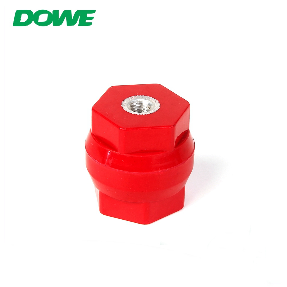 Durm type electrical busbar insulator connector M10*40mm PF material red colour
