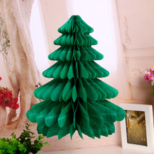 Merry Christmas Tree Honeycomb Ball Xmas Party Hanging Ornaments Wedding Table Decoration DIY Craft