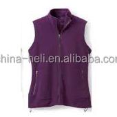 Women zipper up fleece vest
