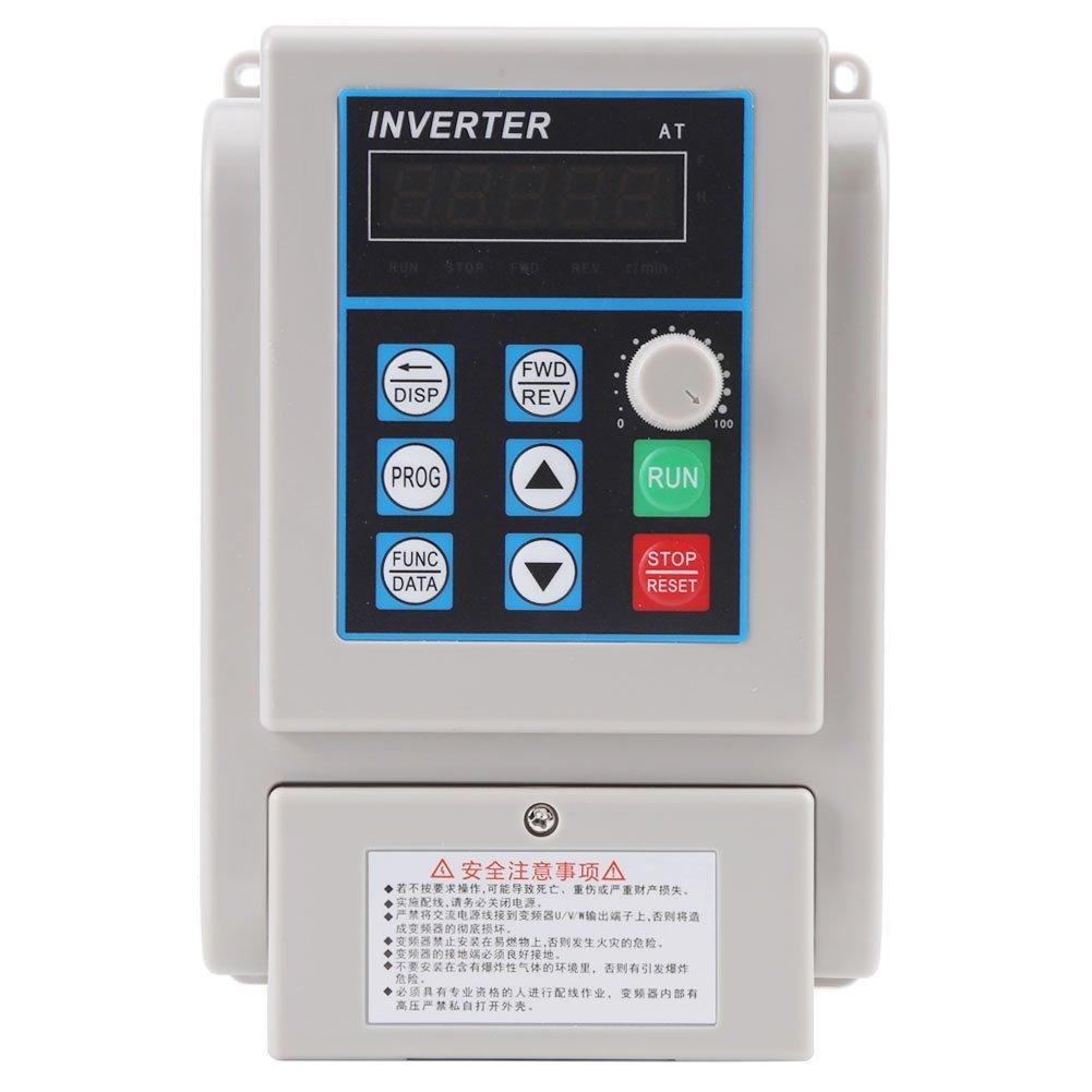 Walfront VFD Drive VFD Inverter, 1.5KW 220V AC Variable Frequency Drive Inverter, Speed Controller Inverter for Single-phase Motor