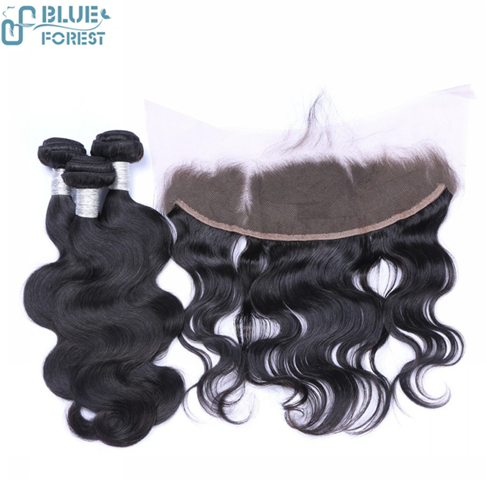 High Quality No Shedding Brazilian virgin hair body wave lace frontal closure with bundle