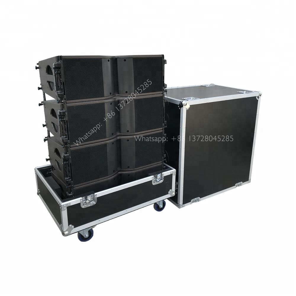 flight case in dual 8 inches line array KR speaker sound system for stage performance acoustics cheap sale