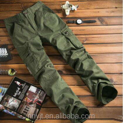 2017 Good Plastic Buttons 6 Pocket Mens Cargo Pants