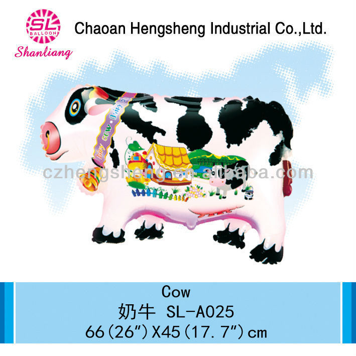 Jungle party decoration balloon inflatable toy cow