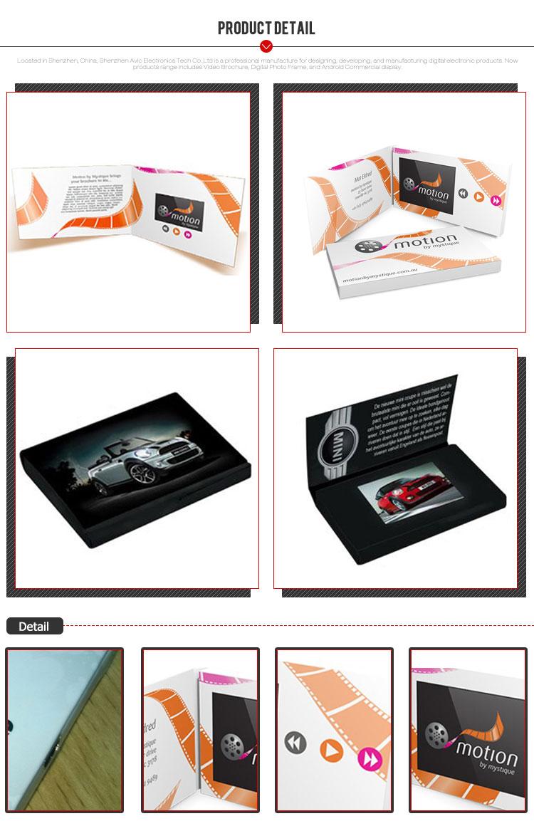 Lcd da 2.4 pollici invito di Scorrimento video business brochure biglietto di auguri per i regali di natale
