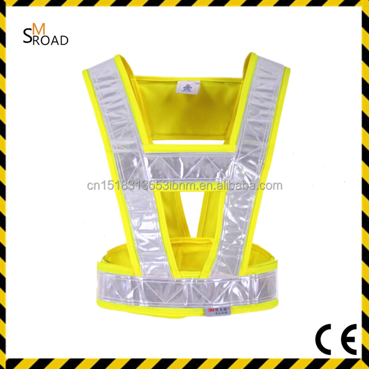 workwear Fluorescent Mesh Cycling LED Flashing Light safety reflective belt
