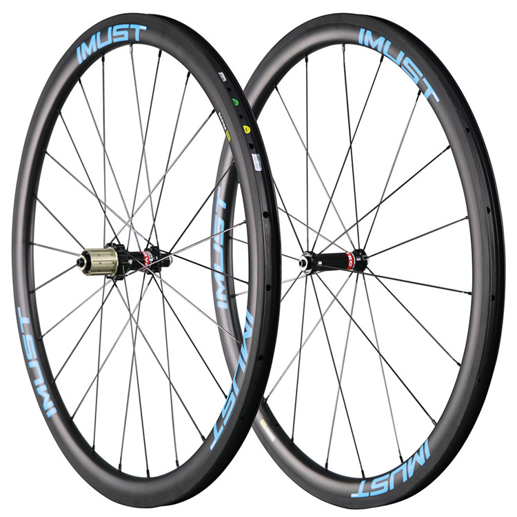 2017 IMUST Carbon Road Wheels 38mm clincher Carbon 700C rims for selling