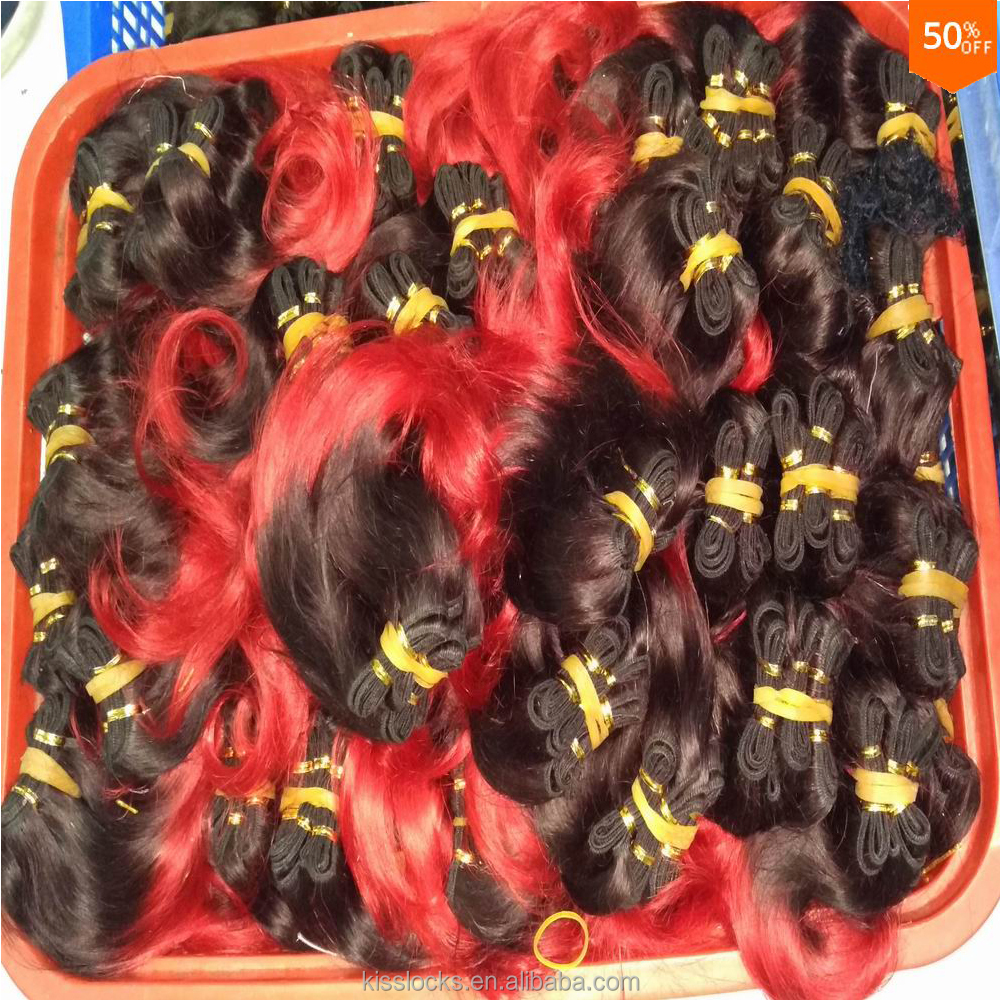 Alibaba.com / Cheap Colored Peruvian body wave hair Weaving 30pcs/lot 8 inch bundles wine red color free shipping