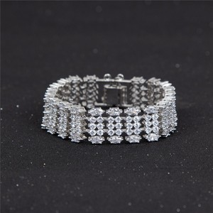 5 rows fashion beauty girls cubic zirconia bangle wholesale cz tennis bracelet sterling silver