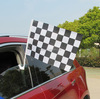 100% Polyester Car Flags High Quality Car Window flag Decorative black and white checked Car Flag