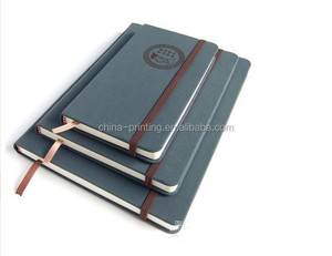 Beautiful designed pu leather note book with bookmark inside for sale in hefei