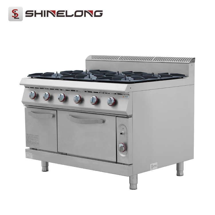 Professional Cooking Equipment 900 Series 6-Burner Gas Range With Oven