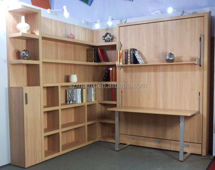 Wall Bed With Study Table, Wall Bed With Study Table Suppliers And  Manufacturers At Alibaba.com