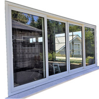 Powder Coated UPVC/Aluminum alloy windows and doors aluminum residential sliding windows