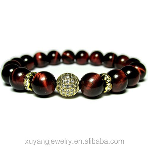 High quality Ladies <strong>red</strong> <strong>tiger</strong> <strong>eye</strong> <strong>bracelet</strong>,<strong>Tiger</strong> <strong>eye</strong> jewellery, Micro pave <strong>bracelet</strong> (CSB0045)