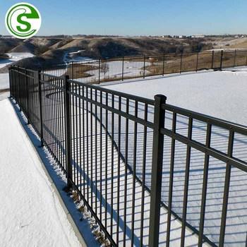 Black Powder Coated Aluminum Decorative Metal Fence Panel Price
