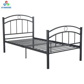 Metal Bed Frame Single Size 6 Legs Mattress Foundation One ...
