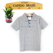 Fancy baby boys golfer T-shirt toddler baby boy Polo neck melange T-shirt wholesale price