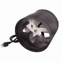 HORTIKING 220V Stainless Steel Silent 6 8 10 12 Inch Inline Duct Fan