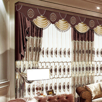 Fashion Style Luxury Kitchen Door Window Curtain Valance